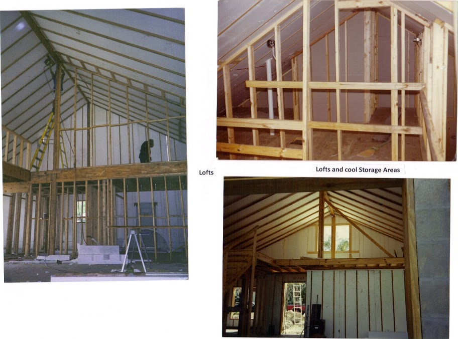 CEILING, w interior framing, attic, w stairs
