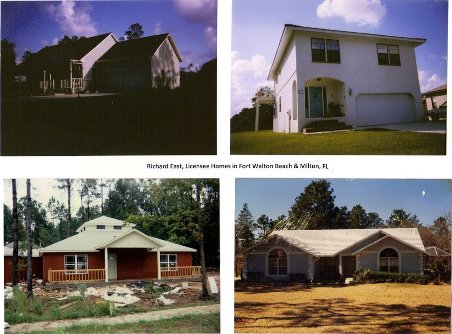 FINISHED HOUSES, Dick East, Ft Walton, Milton