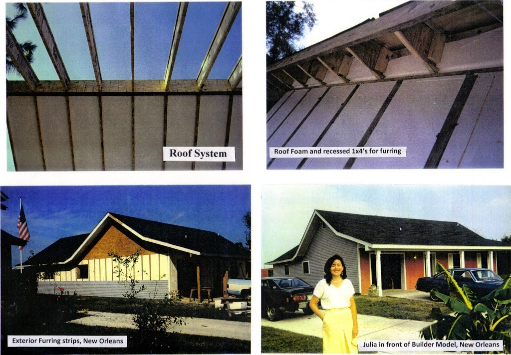 FINISHED HOUSES, Roof foam, Blocking EPS beams, N.Orleans Julia