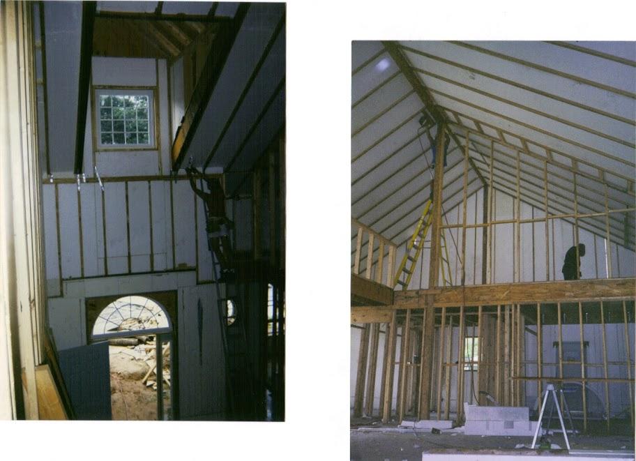 LOFT W interior framing, Dormer inside
