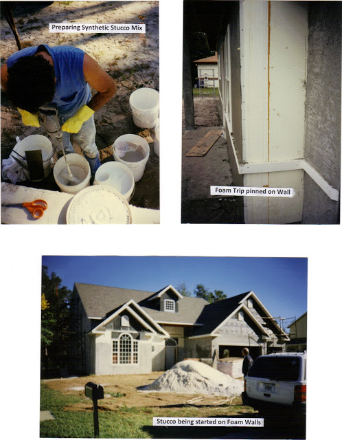 STUCCO MIXING, DECO WALL
