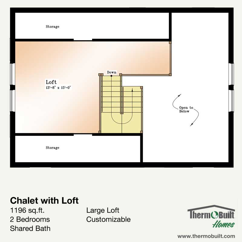 Plan chalet with loft thermobuilt systems inc - Full verandah house plans the functional extra space ...