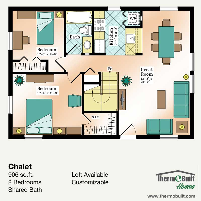 Plan chalet thermobuilt homes Plan chalet