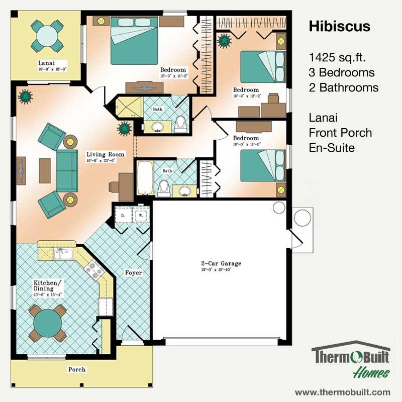 ThermoBuilt Homes - Hibiscus Floor Plan