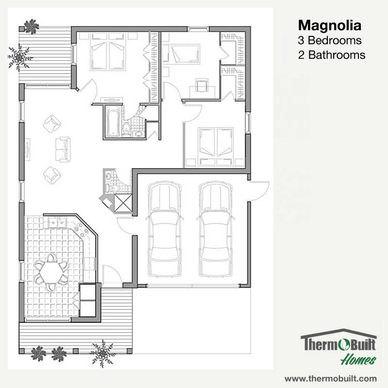 PlanMagnolia ThermoBuilt Homes
