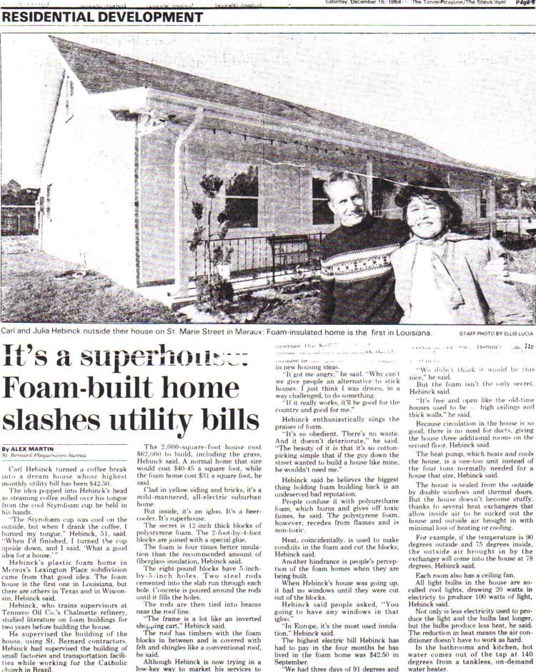 ThermoBuilt-The-Times-Picayune-Article-December-1984