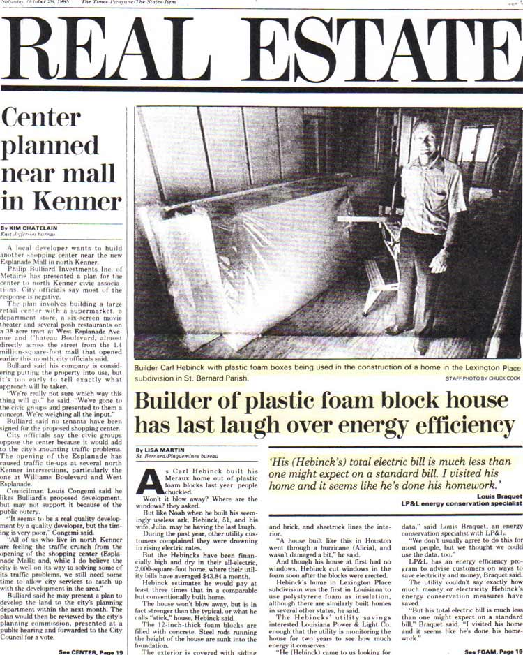 ThermoBuilt-The-Times-Picayune-Article-October-1985