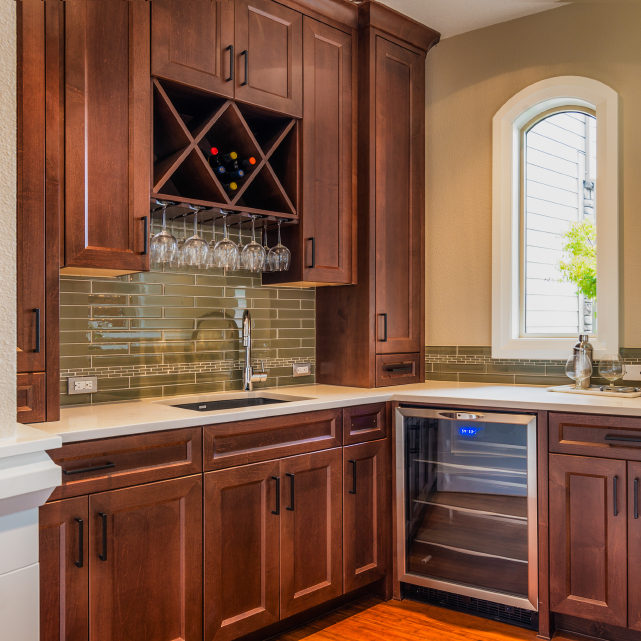 Food Prep and Wine Storage Area in Luxury Home