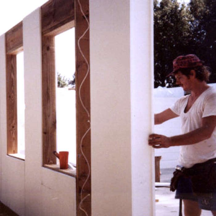 ThermoBuilt Wall-32 Panel being installed.